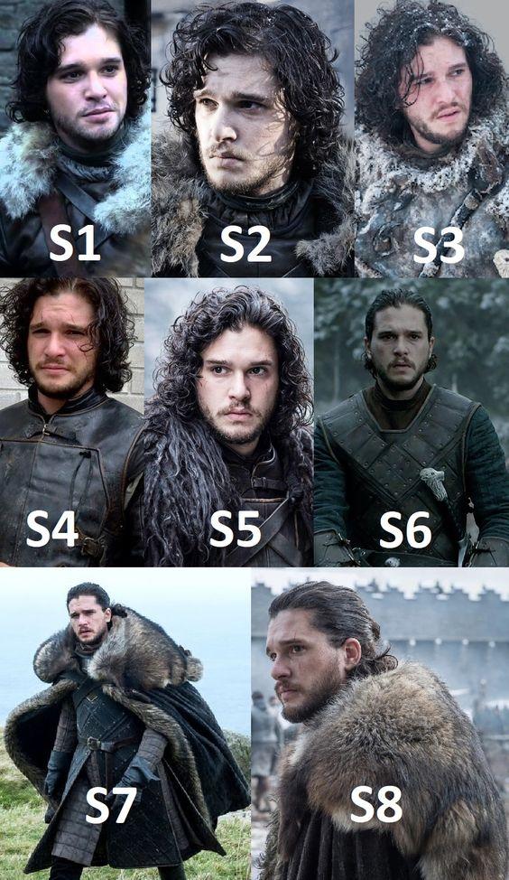 Jon Snow Season 1 To Season 8