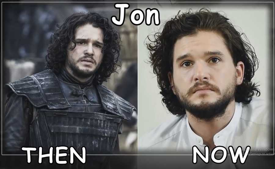 Jon Snow Then And Now