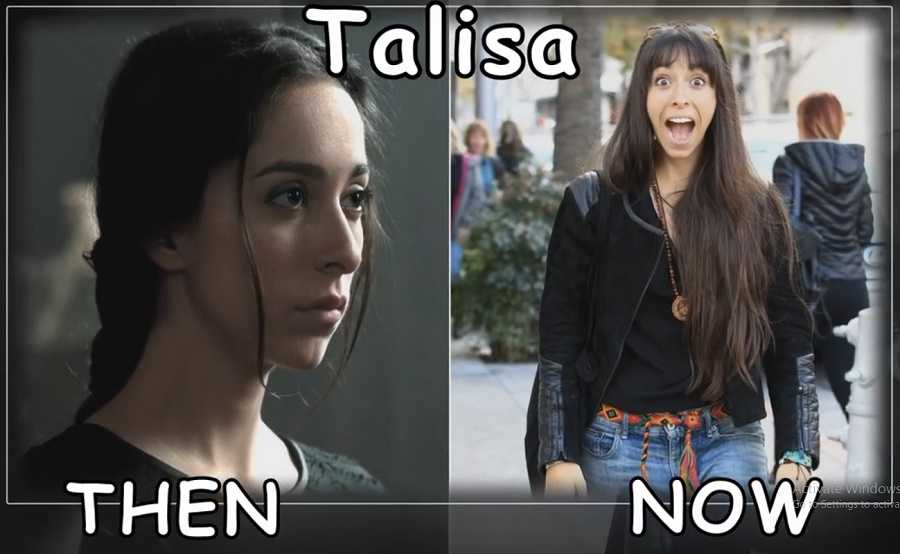 Talisa Then And Now