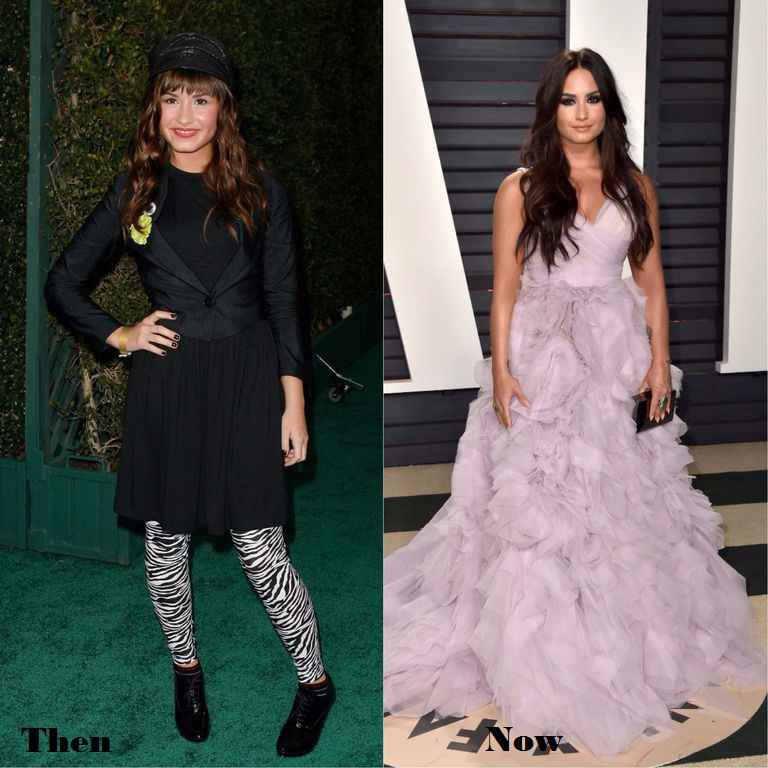 Demi Lovato Then And Now