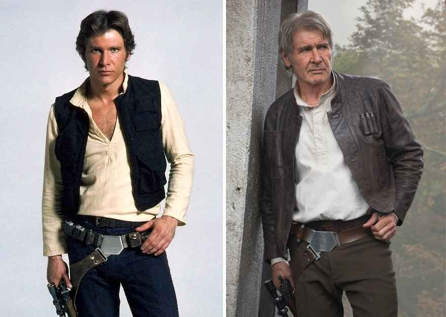 Harrison Ford Then And Now