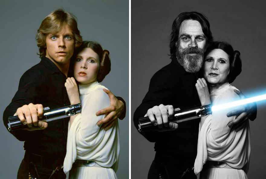 Mark Hamill And Carrie Fisher Then And Now