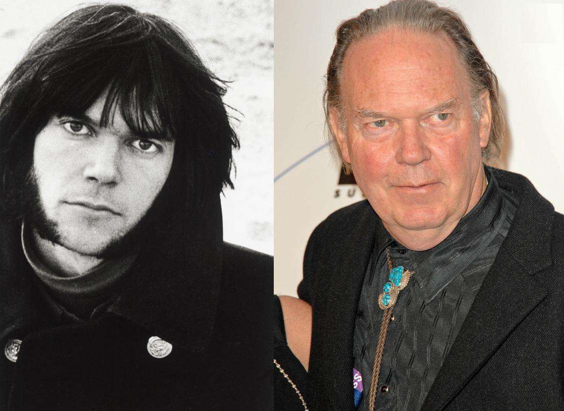 Neil Young Then And Now