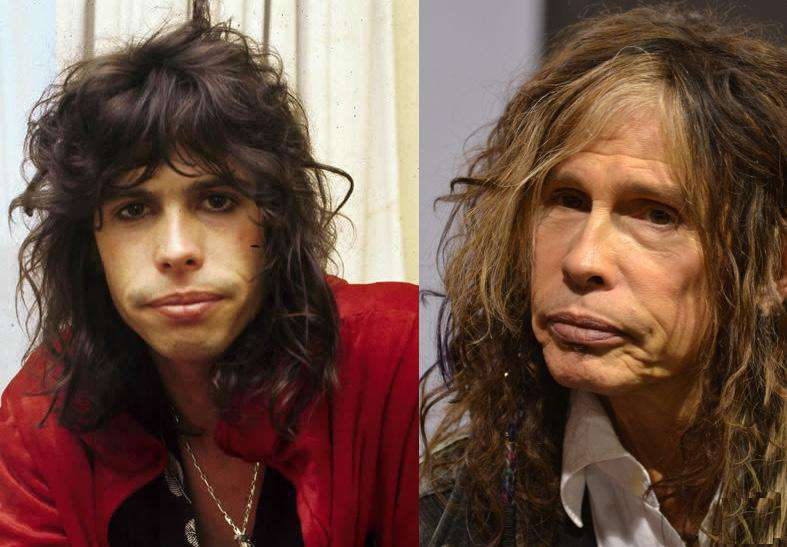 Steven Tyler Then And Now