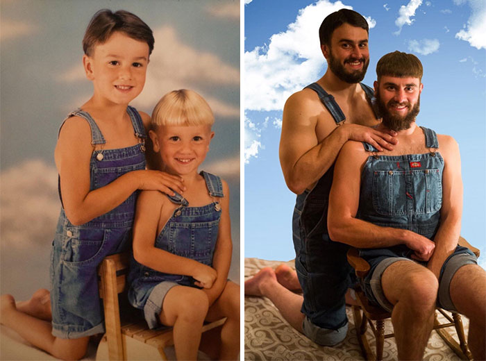 Siblings Then And Now