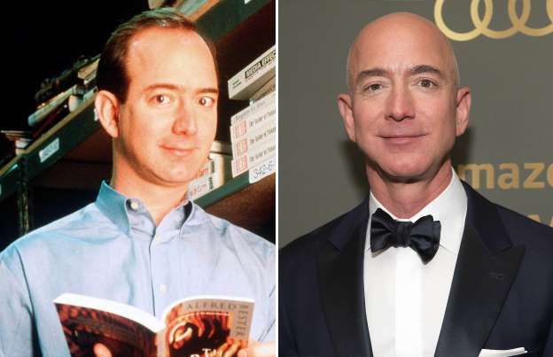 Jeff Bezos Then And Now