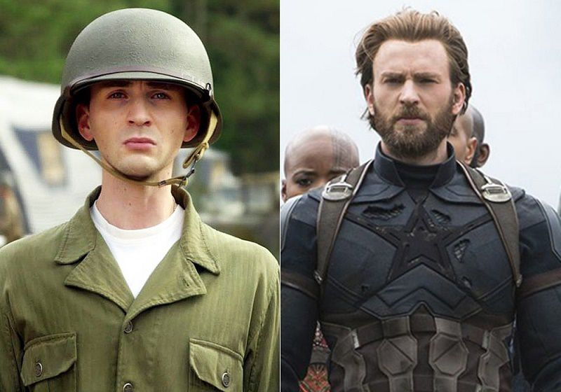 Captain America Then And Now