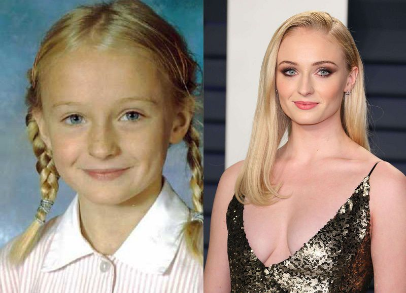 Sophie Turner Childhood Vs Now