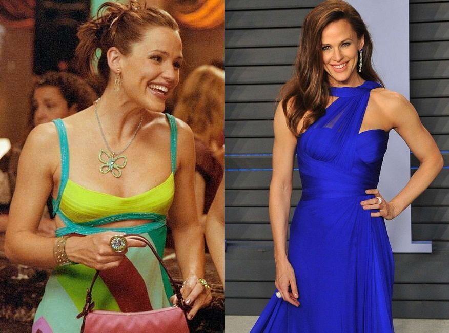 Jennifer Garner As Jenna Rink Then And Now