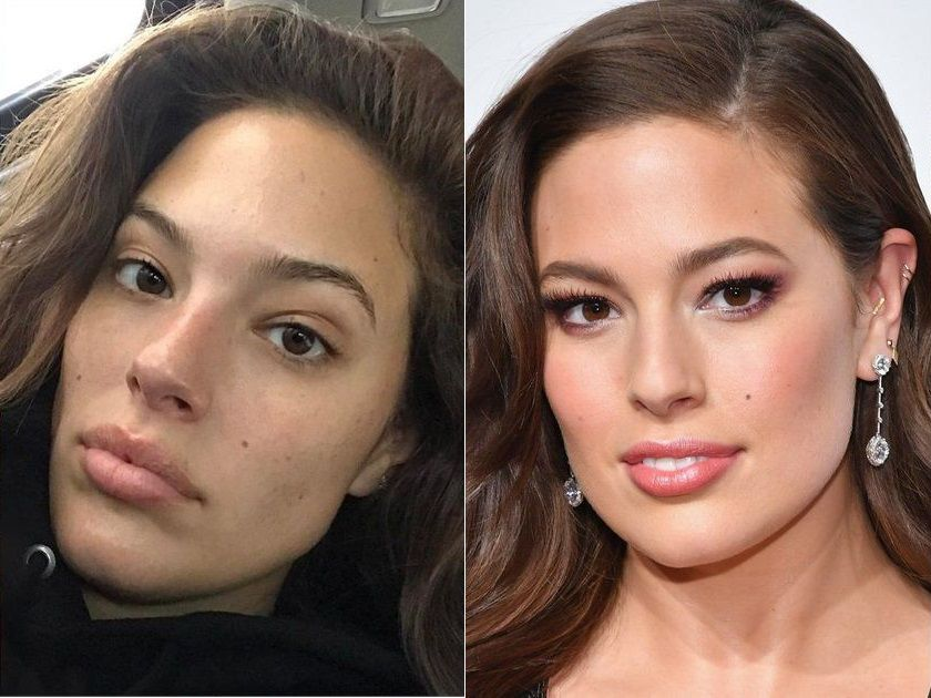 Ashley Graham without makeup